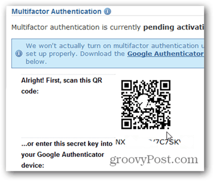Enable two factor authentication Dreamhost
