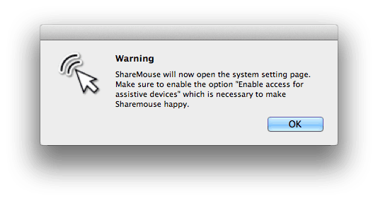sharemouse enable access for assistive devices on mac