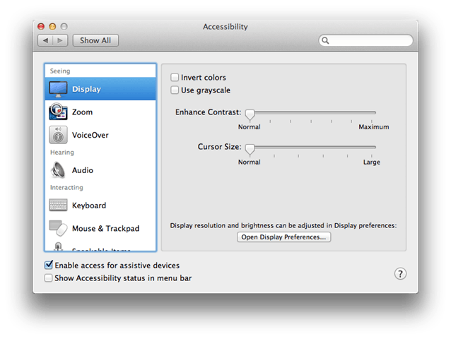 sharemouse assistive devices setup on Apple
