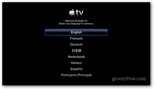 Setup Apple TV