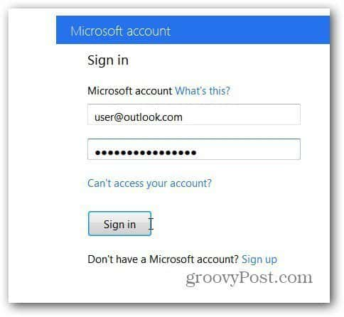 Sign In MS Account