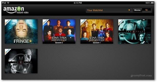 Watchlist iPad