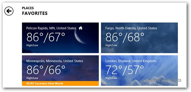 Weather Favorites