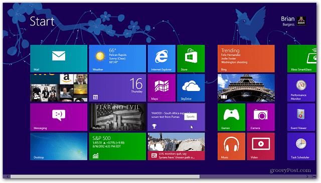 Windows 8 Start Screen with Tattoo