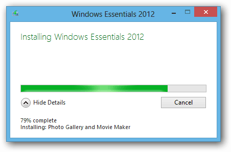 Windows Essentials 2012 Installing