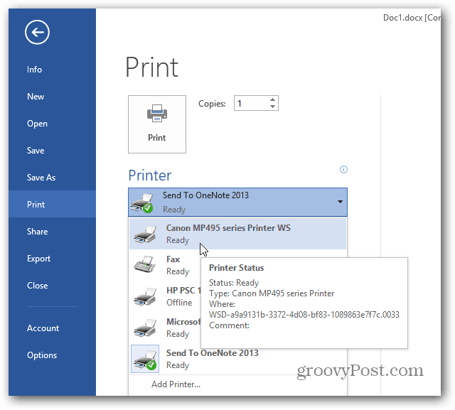 printer prints in pdf but not msword