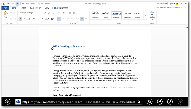 Word Doc Office Web Apps