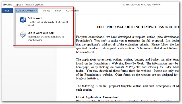 Word Web App Windows 8 Touch