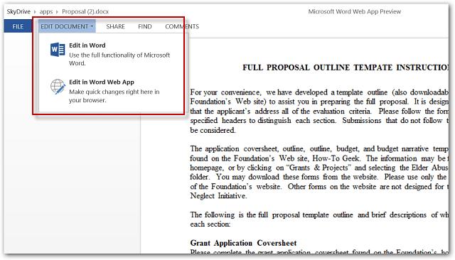 Word Web App Windows 8 Touch