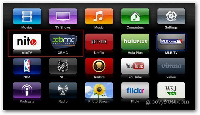 XBMC Nitro icons Apple TV