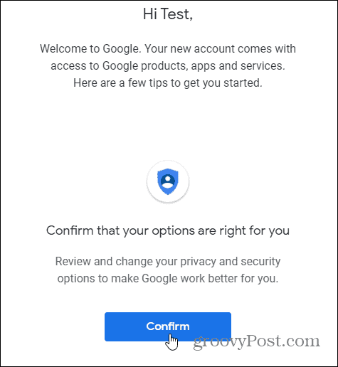 confirm gmail security and privacy settings