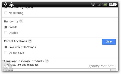 groovypost google handwrite enable