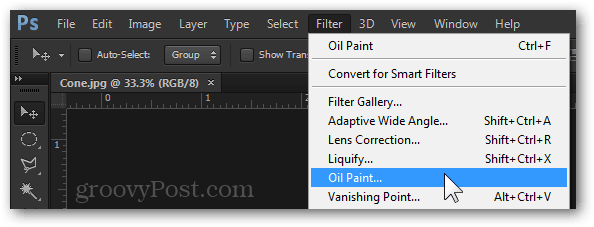 Filter Oil Paint Menu Photoshop CS6