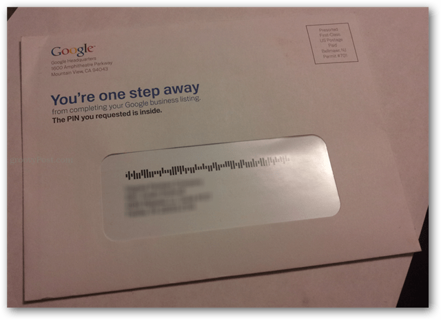 google postcard from business listing