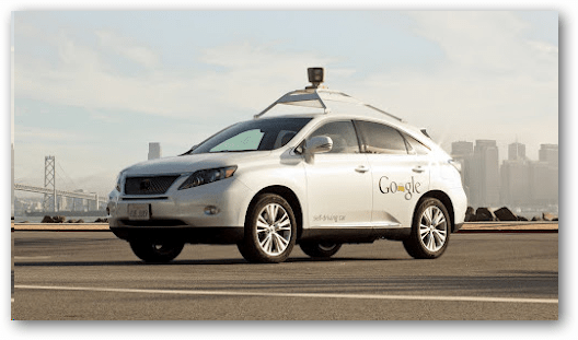 Google self driving lexus