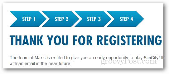 thanks for registering