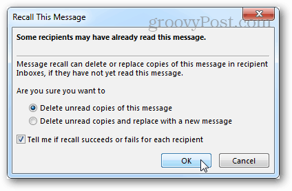 How to Recall or Unsend a Message in Outlook