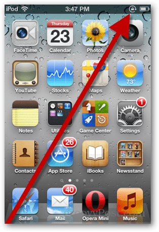 ipod orientation locked icon