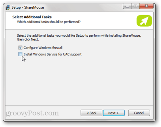 sharemouse: configure windows firewall and UAC support
