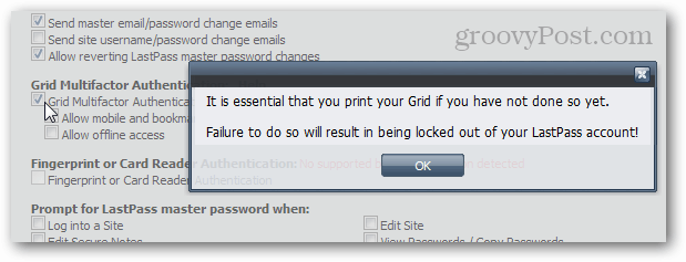 grid multifcator authentication