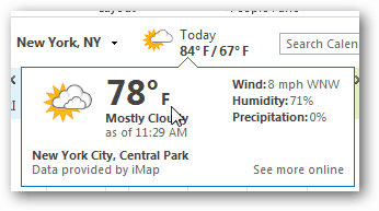 Change the Outlook 2013 Calendar Weather to Celsius