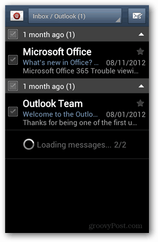 outlook account android
