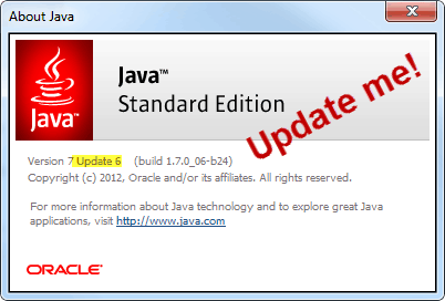 java standard edition update 6