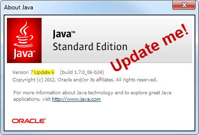 java standard edition update 6