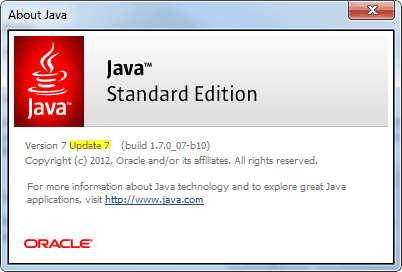 java update 7
