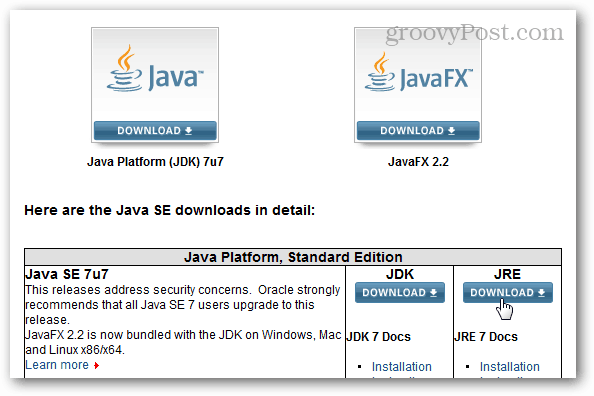 java download center