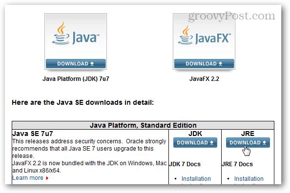 java download center