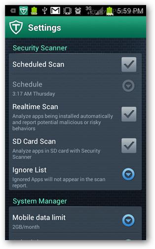schedule the scanner
