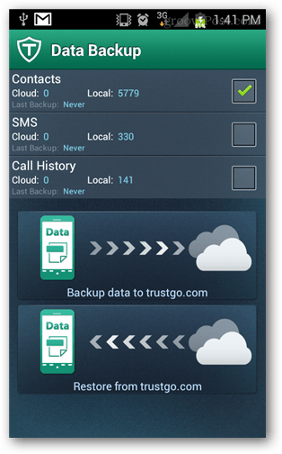 cloud backup from trustgo