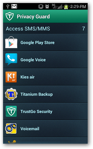 access to sms and text messages