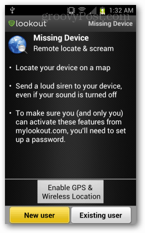 ve been looking for a way to do the same thing on Android Android: Lookout Mobile Security Review