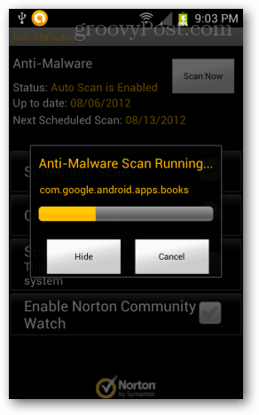 norton anti malware only scans apps on android