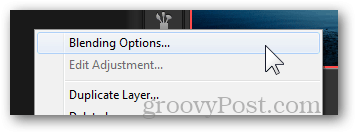 blending options layer context menu