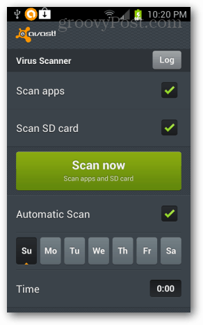 avast scan now