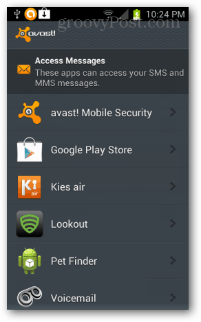 Android: avast! Mobile Security Review