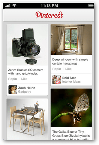 Pinterest for iPhone, iPad, and iPod Touch