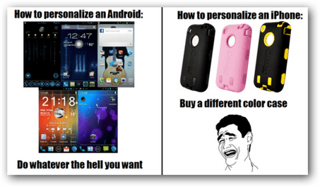 personalize android apple