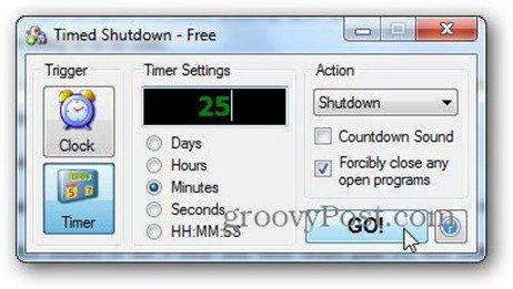 timed shutdown timer