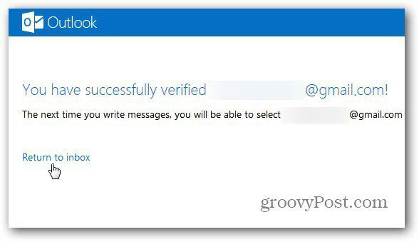 verification successful