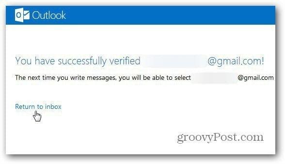 verification successful