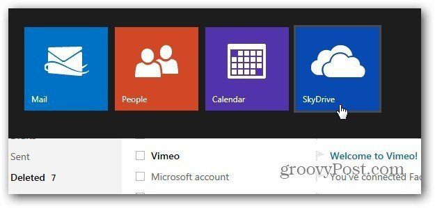 Access SkyDrive Outllookdotcom