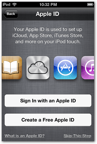 Apple ID iOS 6