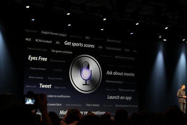 Apple Keynote Siri Announcement