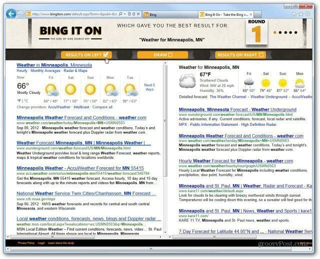Recently Microsoft started a new promotion called Bing it On Take the Bing vs Google Challenge