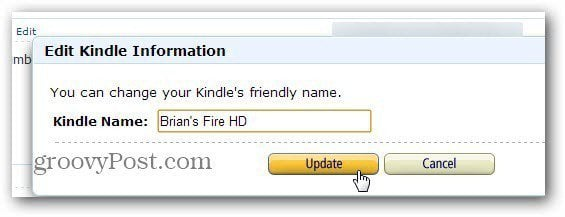 Edit Kindle Info
