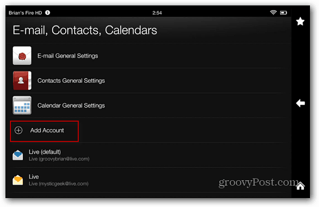 Email Contacts Calendars